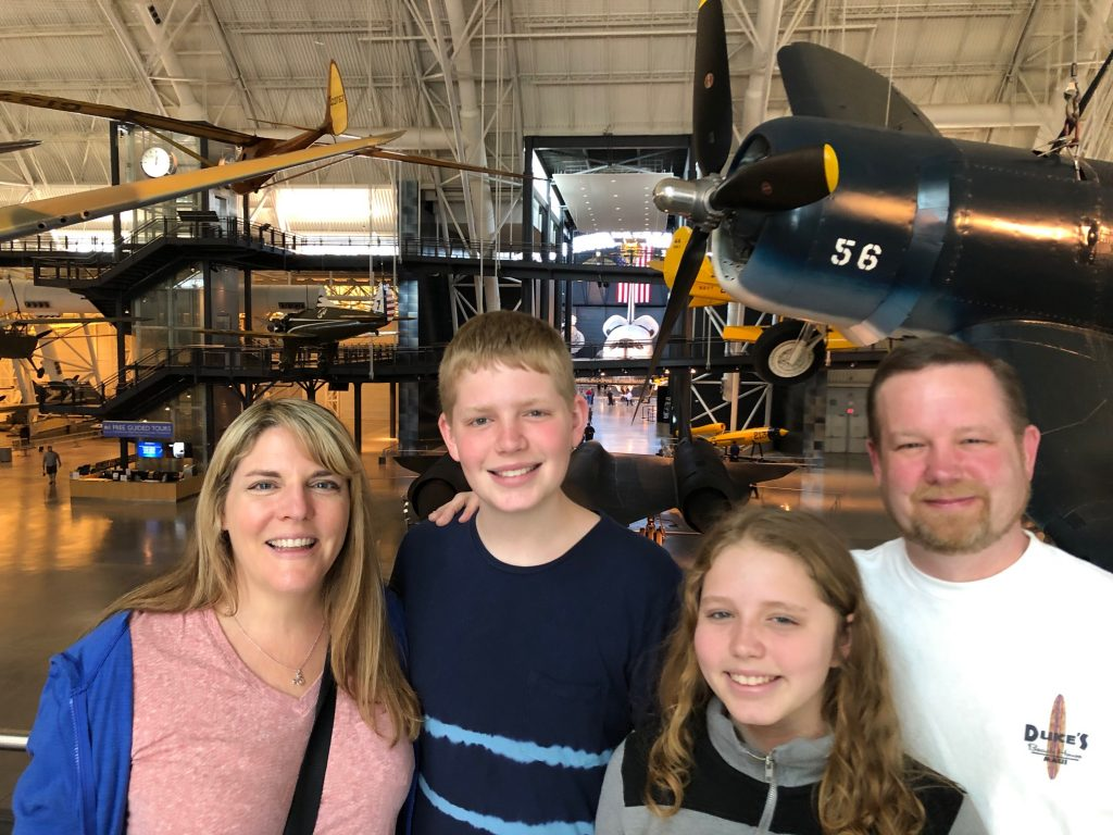 Udvar-Hazy Air and Space museum is an interesting destination in Washington DC for tweens