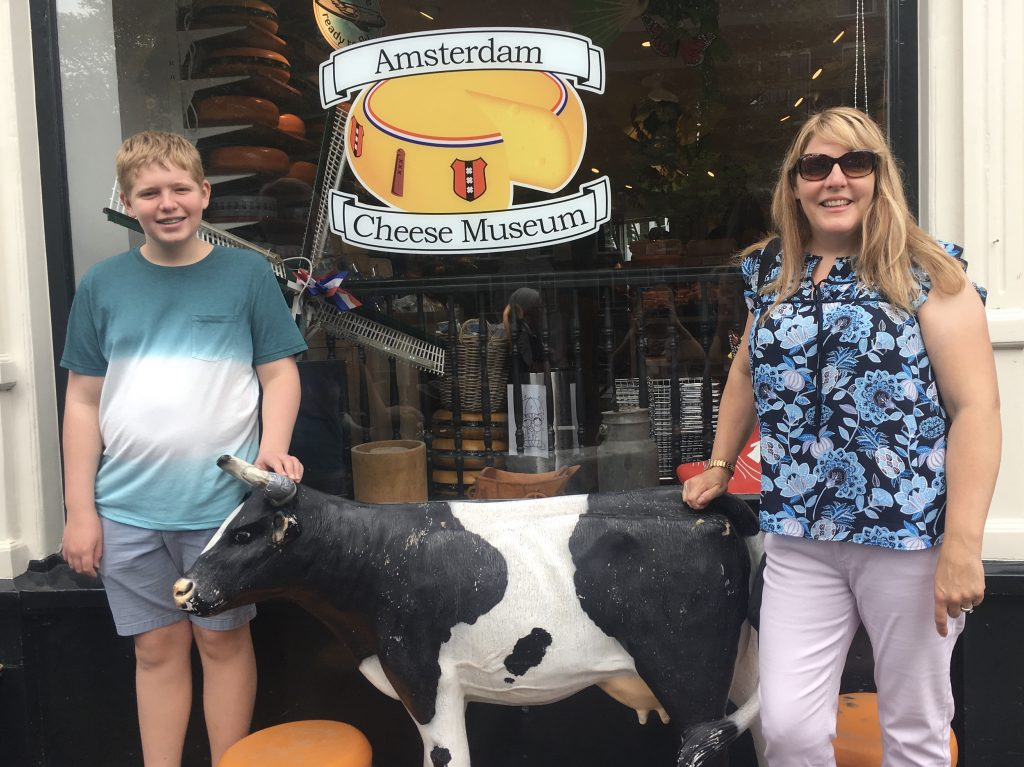 T and Karen at the Cheese Museum