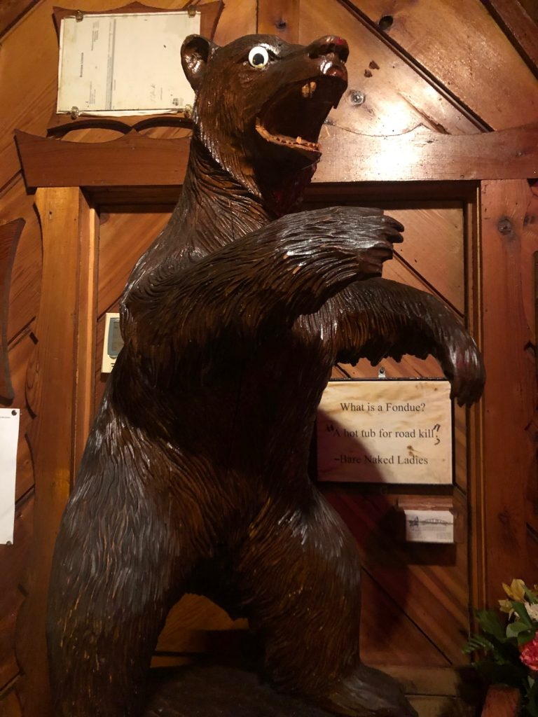 Grizzly decor at Grizzly House, Banff