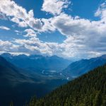 View of Bow Valley from the summit of Sulphur Mountain