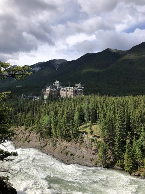 View of Banff Springs Hotel from Surprise Corner