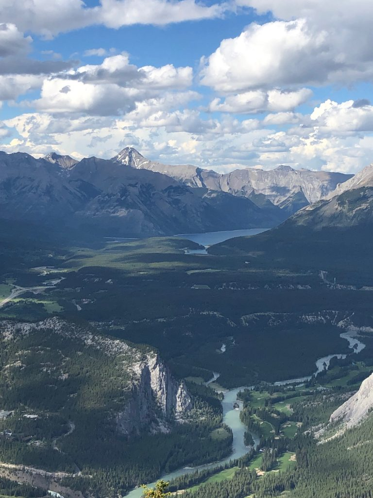 View of Bow River Valley from Sulphur Mountain, Banff, AB