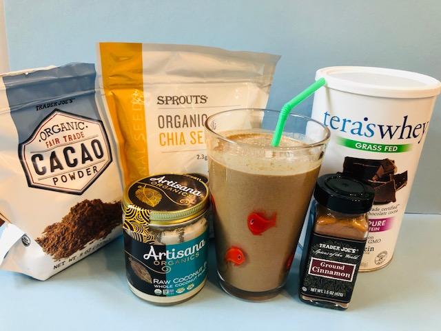 Super healthy chocolate smoothie ingredients