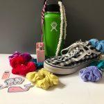 VSCO girl - Hydroflask, Vans, scrunchies, stickers