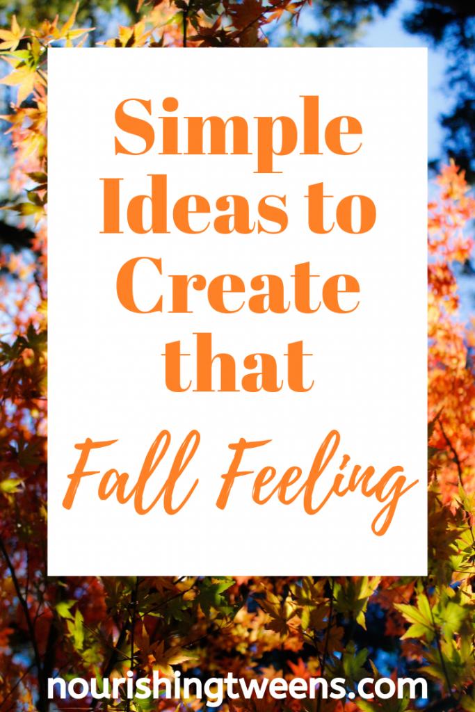 Simple fall ideas