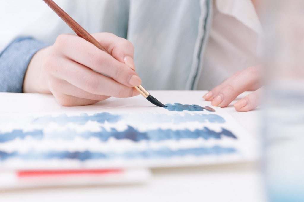 Painting or drawing is a calming activity - Photo by Bench Accounting on Unsplash