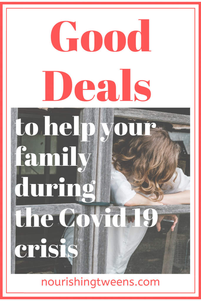 Good deals to help your family during the Covid 19 crisis