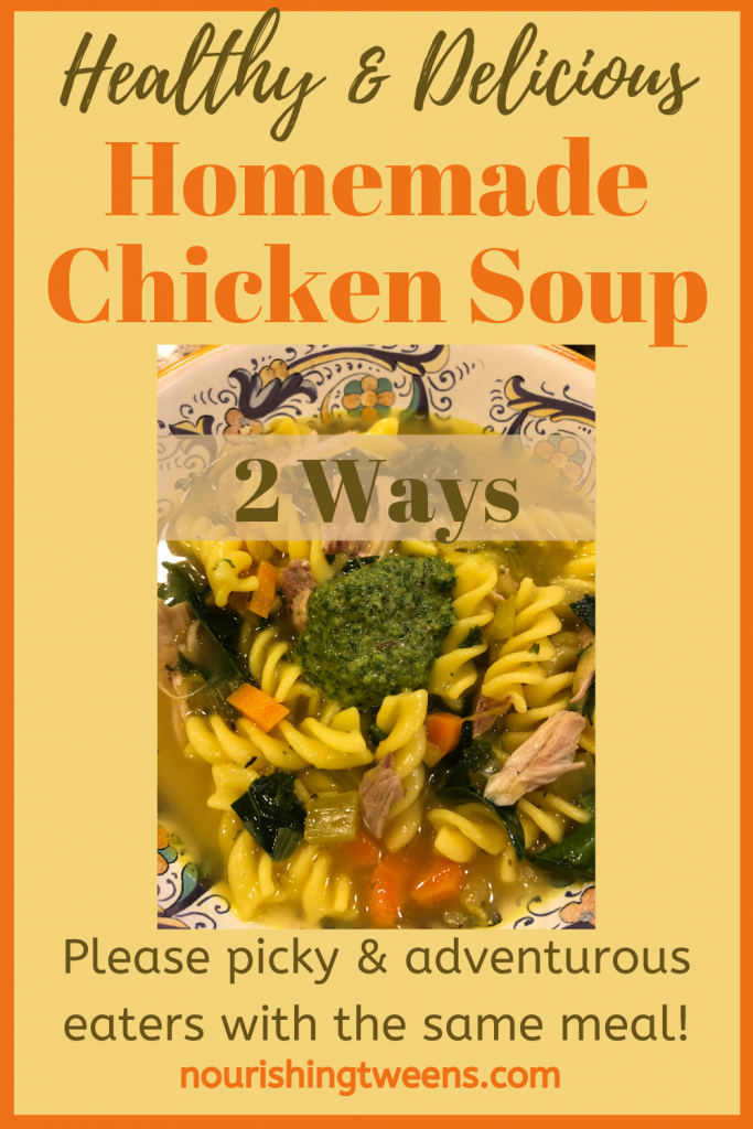 Versatile homemade chicken soup recipe