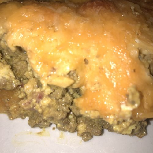 Family-friendly cheeseburger casserole