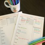 Summer printable planner for teens