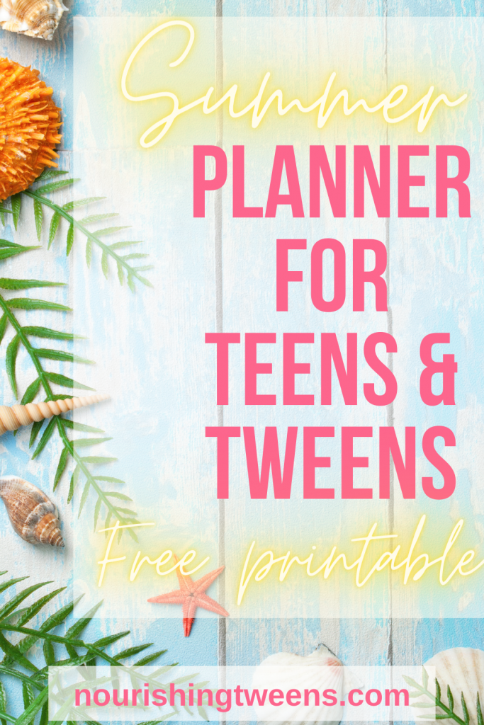 Summer planner for teens and tweens